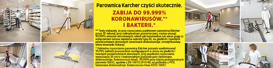 Gorąca para zabija do 99.99% koronawirusów.** I bakterii.*
